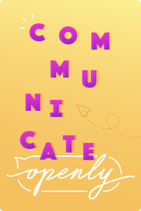 Illustrated poster for communicate openly
