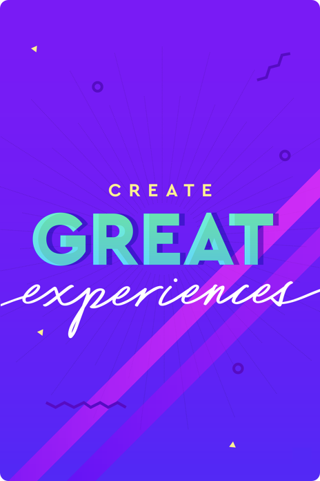 Illustrated poster for create great experiences