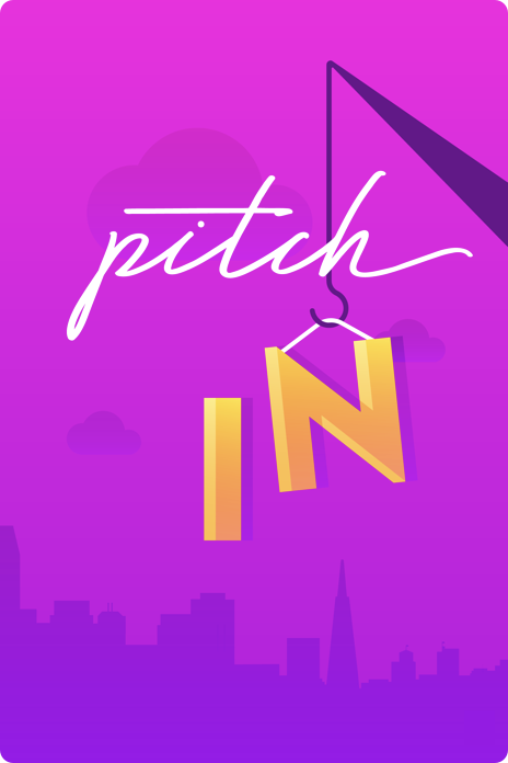 Illustrated poster for pitch in