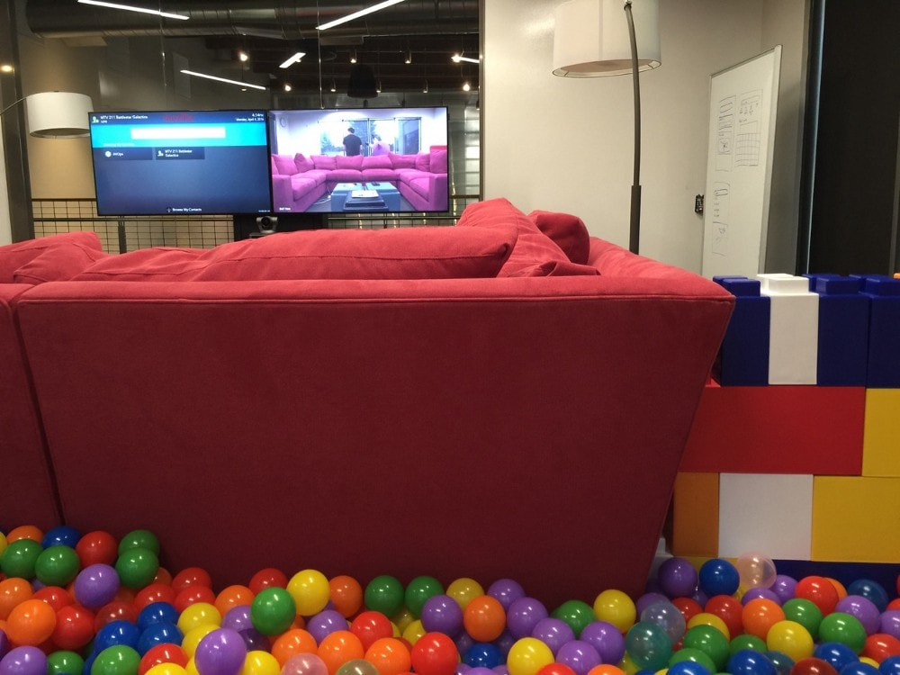 The Ball Pit Hened Quite By Accident Someone Brought In A Bag Of Rubber To Prank Colleague But When Fell Through People Got