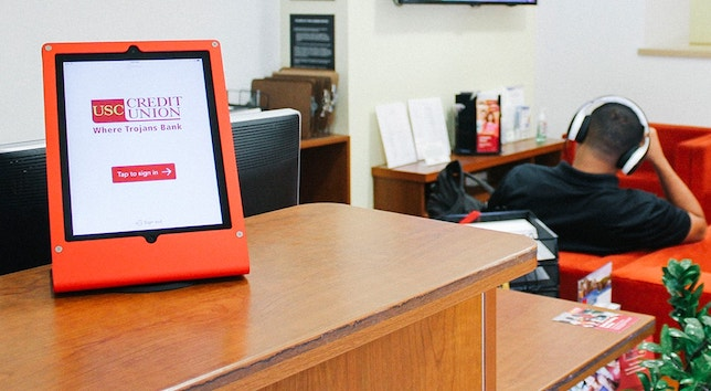 Photo of Envoy in use at USC Credit Union