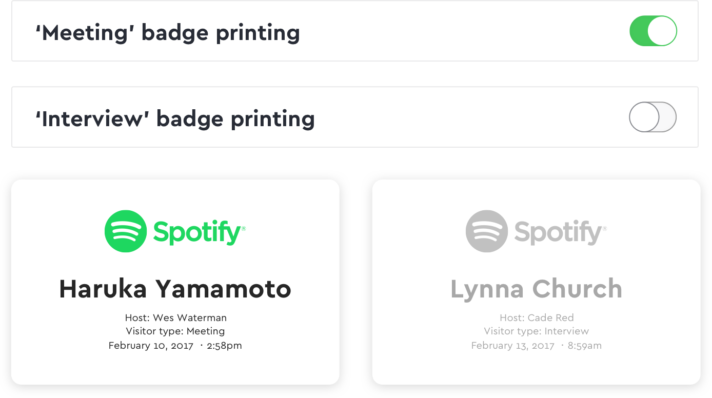 Easily Print Visitor Badges | Envoy